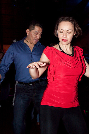 Angela Katz and Armando Villalobos get down on the dance floor.