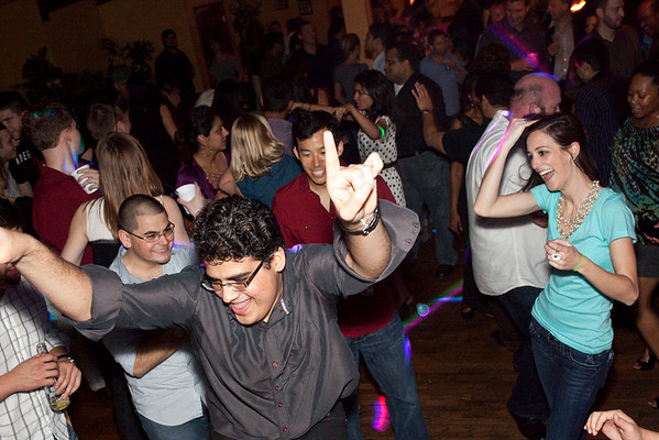 The dance floor at Saints never slowed down during the YPAL/GLIP pary in the Sky Bar on Friday night.