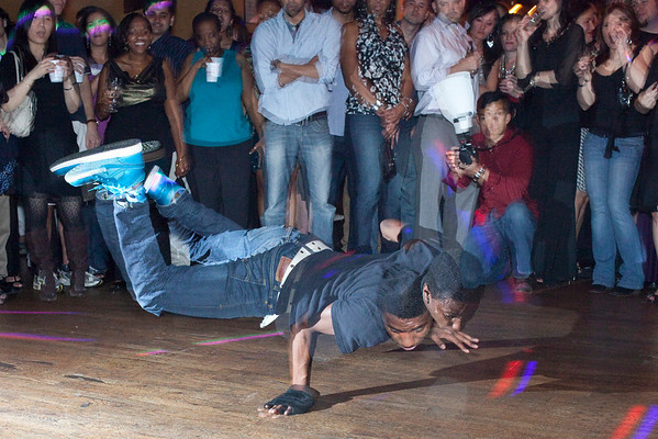 A breakdancing crew wowed the crowd with some high energy moves.