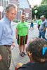 The Mayor does the ole' meet-n-greet with attendees to the Old Louisville Spring Fest.