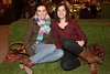 Allison Scott and Lindsay Schanie enjoy the scenery and the night air.