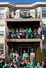 Parade watchers gathered in every available space--both high and low--along Baxter Avenue and Bardstown Road as sunshine and clear skies made the annual St. Patrick's Parade in the Highlands a crowded attraction.