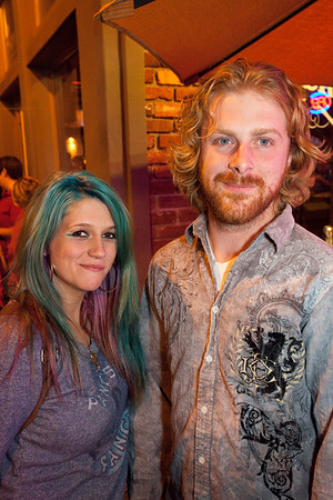 Bree Longacre and Argyle Williamson were happy to be on the scene.