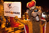 Former Kentucky Kingdom mascot King Louie the Lion stopped by to promote SaveMyPark.com