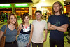 Miri Fetko, Stephanie and Jeff Hamilton, and an unidentified loomer take advantage of the photo opp.