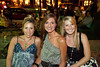 Sarah Mudd, Brittney Stout, and Megan Williams enjoy the scenery at Garage Bar on East Market.