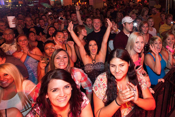 Random scenes and faces in the crowd at the final Hot Country Nights Concert at Fourth Street Live on Friday.