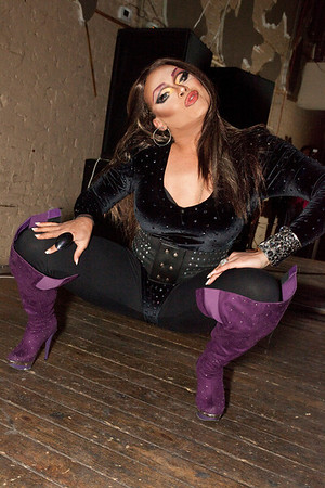 """""""RuPaul's Drag Race"""" and """"RuPaul's Drag U"""" star Mariah Paris Balenciaga from Atlanta GA performs her second act at Prime Lounge as Hard Candy celebrated its 4-Year Anniversary as Louisville's premiere monthly GLBT party on Thursday night."""