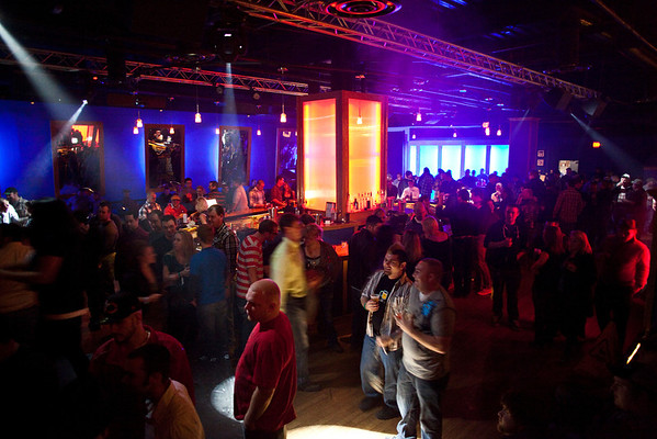 The always colorful Hotel Night Club draws a crowd on it's last Friday night. The club will be closing for re-modeling after this weekend, and re-opening under a new name.