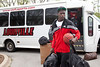 The Final Four bound UofL Cardinals arrived back at Minardi Hall on Sunday afternoon.