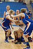 The action was tense between the Charlestown Lady Pirates and Silver Creek on Friday night.