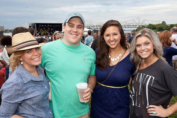 Robin Hendrich, Kevin Hendrich, Gloria George and Kaelyn Gault were ready for some live music.