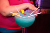 The big blue drink is a favorite among groups of friends.