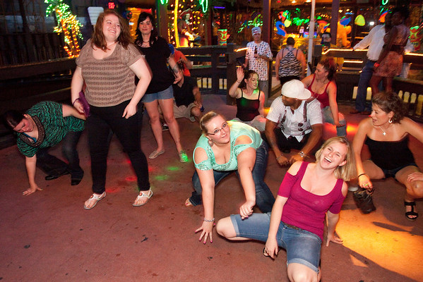 """How low can ya go?"" is part of a line of dance floor questions."