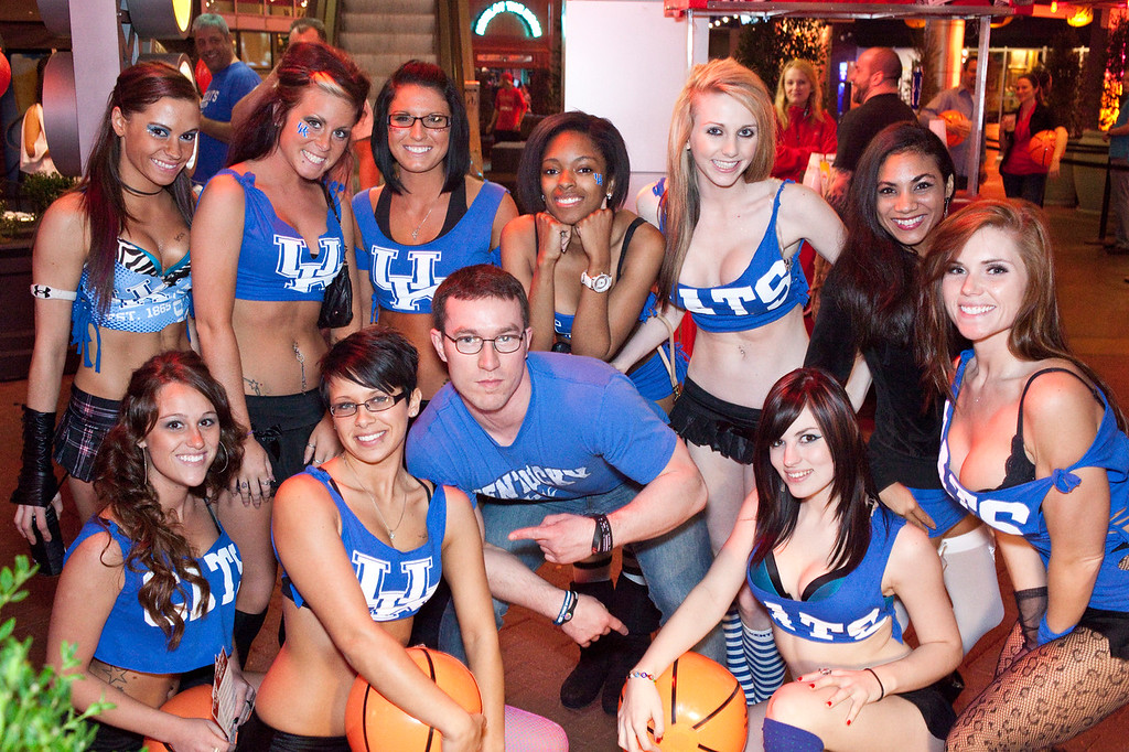 "Fourth Street Live kicked off a giant street party known as ""Fan Fest"" on Thursday to entertain the thousands of visitors in town for the NCAA Mens Basketball games."