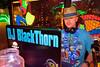 DJ BlackThorn keeps 'em moving.