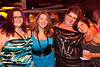 Erica Williams (blue dress) celebrates her birthday in style with gal-pals Jennifer Barnes, Margaret Drasler, and Kelly Windrak.