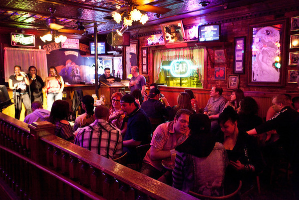 The karaoke room stays crowded with budding singers and buzzed revelers.