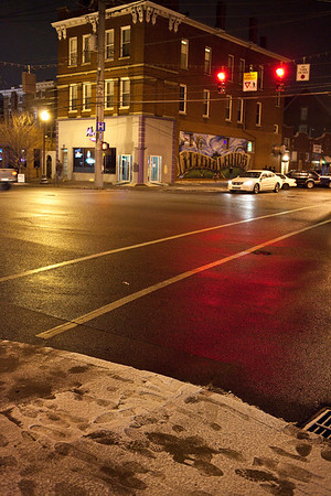 Blistery weather and a fresh dusting of snow may have slowed the traffic along Baxter Avenue on Saturday night, but the bars in this historic district provided the backdrop for good times.
