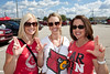 Colleen Ingbretsen, Nicole Nord, and Kathy Nord came to cheer on family member Nate Nord (Cards #85.)