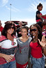 Angela Copeland, Tia Copeland, and Chevall Jackson came to cheer on Cardinal Wide Receiver (#7) Damian Copeland during the Cards March.
