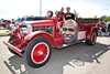 Ron Thomas' 1929 Pirsch Fire Engine patrols the scene.