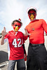 Donovan Wilson and Jeremy Cooper show some team spirit.