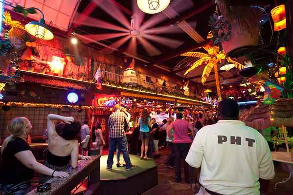 Part of the ongoing celebrations for the 36th Birthday of Phoenix Hill Tavern included a Mardi-Gras-esque bead tossing from staffers on an upper deck to patrons below.