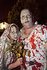 Kim and Mike Carden were a more subdued pair of zombies.