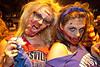 Lauren LoBue chews on a wildcat head while zombie pal Erin Weis-Bowles devoured a cardinal.