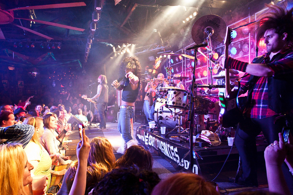 The Velcro Pygmies returned to Phoenix Hill as part of the 80s Night on Friday. The long-running, local band packs the Saloon Room everytime.