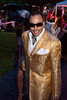Morris Day of 1980s R&B band The Time makes his entrance.