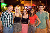 Pat Savage, Heather Martin, Kayla Gibson, Carly Edwards, and Ross Bilriled check out the action along Baxter Avenue.