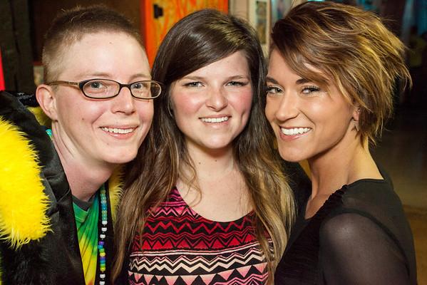 Sarah Logann, Lindsay Brown, and Amy Working grab the photo opp.
