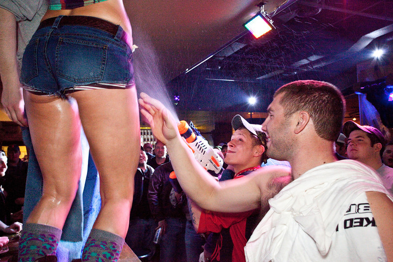 He figured, before he entered the night life, that perhaps a water gun/super soaker may come in handy for something.