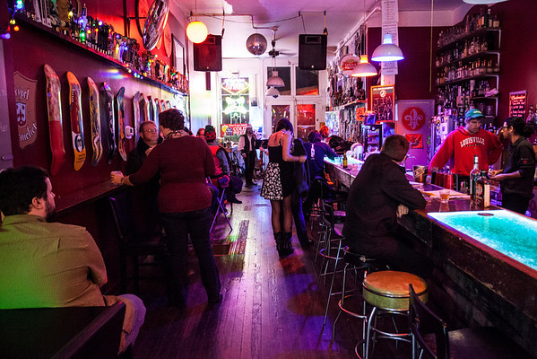 The Haymarket Whiskey Bar was the colorful location for the musical duo of Drunk & Sailor on Tuesday night.