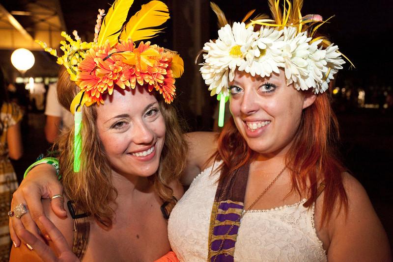 Michelle Sauvageau and Abigail Stiener were looking festive.