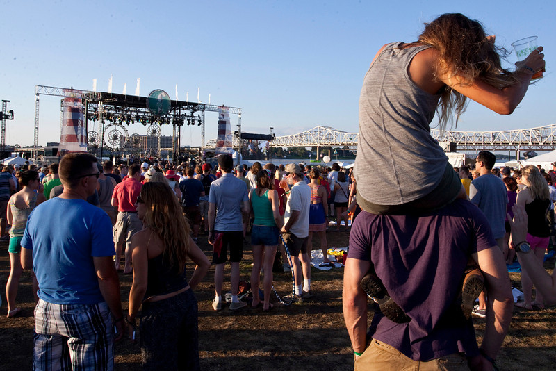 Random scenes and various faces in the crowd from the first night of Forecastle Fest 2013.