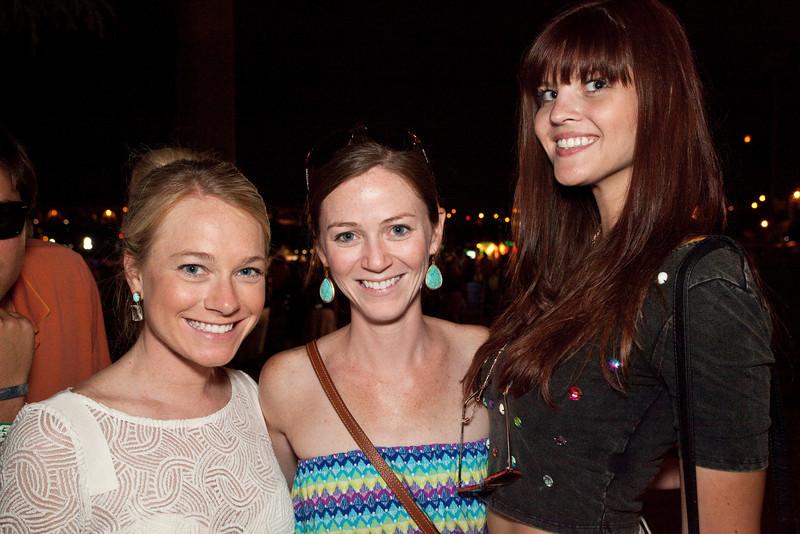 Heather Taylor, Kristen Cripe and Francis Houston await the next act.