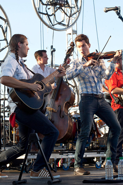 Old Crow Medicine Show took to the Mast Stage as the sun began to set, ushering in the first night of Forecastle.