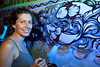 Artist Sarah Smith contributes to the boat exhibit.