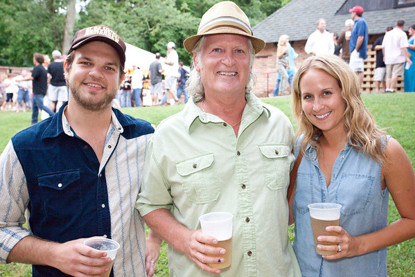 Musician/promoter Hunter Embry joined Mark Cunningham and Jenna Embry for the group shot.