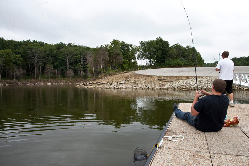 Brothers Tim and Jason Miller of Valley Station--who have fished in Taylorsville Lake for over 30 years--have noticed a drop in the boating and swimming this summer as a result of the ecologocal scare.