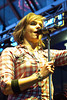 Local favorite Rachel Timberlake brought her high-energy enthusiasm to another installment of the Fourth Street Live concert series Hot Country Nights.