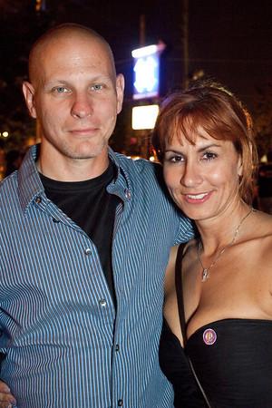 Scott M. Weaver and Heather Mammen make the scene.