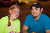 Carly Dolan and Charlie Blanton enjoy some night air together.