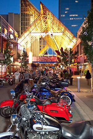 Random scenes from Bike Night at Fourth Street Live.