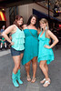 Bridgett Fallon, Whitney Fallon, and Liz Rozengaurd were rocking the teal look.