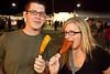Brad Borneman and Jen Lackey enjoy the Fair samplings.