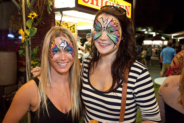 Lynn Coryell and Michelle O'Mahony were in the spirit of things.